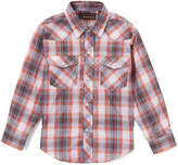 Roper Red & Blue Plaid Button-Up Top - Boys