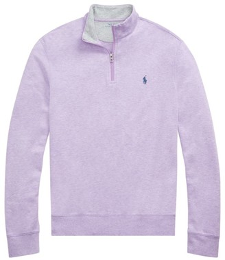 Polo Ralph Lauren Double-Knit Jersey Quarter-Zip Top