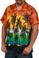 Ingear Casual Shirt Button Down Hawaiian Short Sleeve Cruise Rayon Summer Shirt (XLarge, )