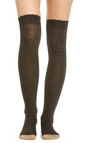 Kate Spade Women's Sparkle Ribbed Over The Knee Socks
