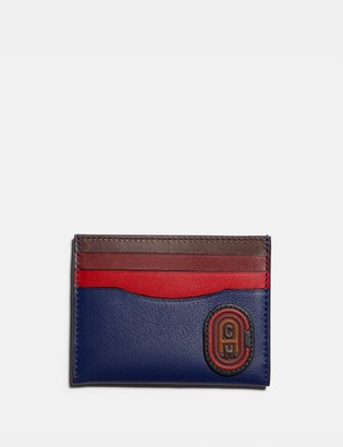 Coach Card Case In Colorblock With Patch