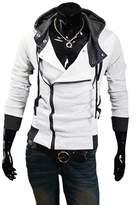 Deer Gary Men's Sports Hoodies Casual Slim Fit Hooded Jackets Zipper Design