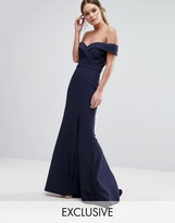 Jarlo Bardot Bandeu Maxi Dress with Fishtail