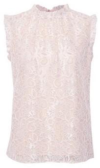 Dorothy Perkins Womens Billie & Blossom Blush Lace Ruffle Shell Top