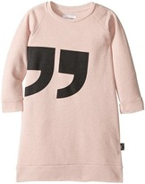 Nununu Quotation Extra Soft A-Line Sweatshirt Dress (Infant/Toddler/Little Kids)