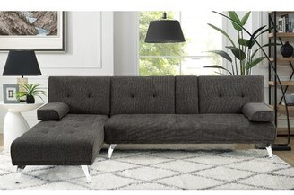 "Serta Morris 102.8"" Reversible Sofa & Chaise Fabric: Bonfire Gray"