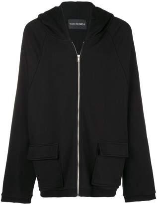 Yuiki Shimoji flower print oversized zipped hoodie