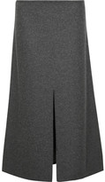 Calvin Klein Collection Hova Wool-blend Felt Midi Skirt - Charcoal