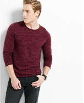 Express roll crew neck space dyed sweater