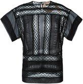 No.21 lace T-shirt - women - Silk/Polyester/Polyamide - 36