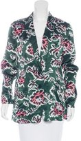 Dries Van Noten Printed Peak-Lapel Blazer