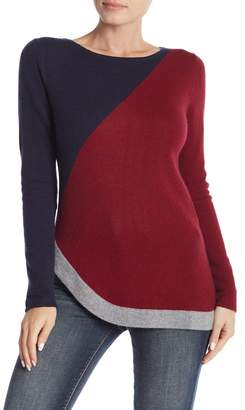 Kier & J Colorblock Cashmere Pullover Sweater
