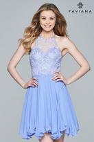 Faviana Beaded Halter Neck Chiffon Dress s8068