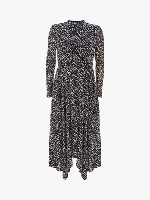 Mint Velvet Roselea Abstract Midi Dress, Black