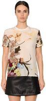 Valentino Floral Printed Silk Crepe De Chine Top