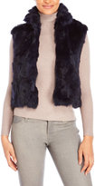 Adrienne Landau Real Rabbit Fur Short Vest