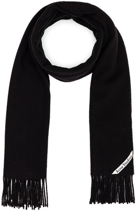 Acne Studios Canada Narrow Scarf in Black | FWRD