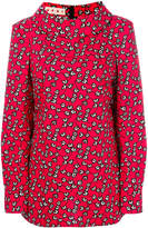 Marni cowl neck floral blouse