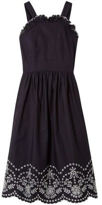 Sea Lace-up Broderie Anglaise Cotton Dress