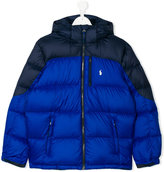 Ralph Lauren teen color block padded jacket