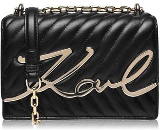 Karl Lagerfeld Paris Signature Flap Over Bag