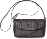 Toms Black Seamed Leather Cadence Crossbody Bag