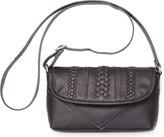 Toms Black Seamed Leather Cadence Crossbody Bag
