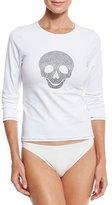 Letarte Studded Skull Rashguard, White