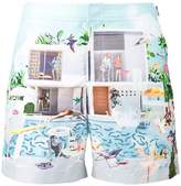 Orlebar Brown Bulldog pool print swim shorts
