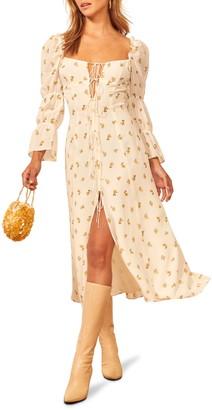Reformation Roberta Floral Midi Dress