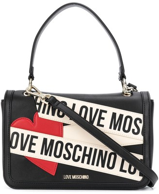 Love Moschino Logo And Heart Patch Tote