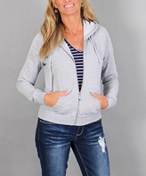 Ambiance Light Gray French Terry Hooded Jacket