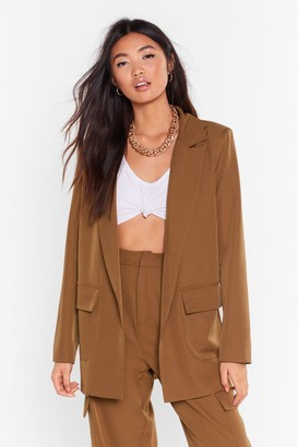 Nasty Gal Womens Can't Pocket Enough Longline Blazer - brown - 6