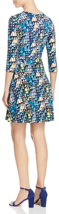 Leota Perfect Mosaic Print Wrap Mini Dress