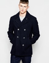French Connection Short Pea Coat - Navy