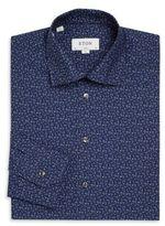Eton Slim-Fit Flower Print Dress Shirt