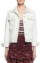 Etoile Isabel Marant Christa Cotton Denim Jacket, Chalk