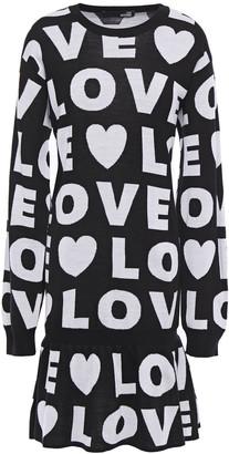 Love Moschino Wool-blend Jacquard Dress