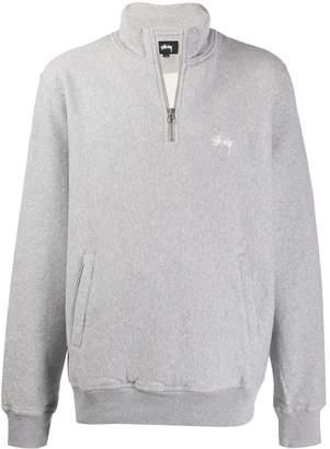 Stussy logo zip-up sweatshirt