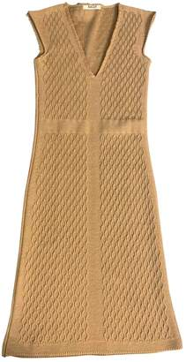 Bally Camel Wool Dresses