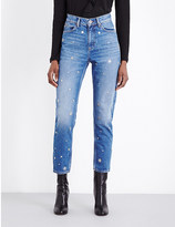 Sandro Locodice tapered high-rise jeans