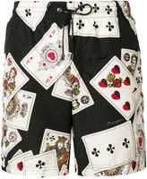 Dolce & Gabbana poker cards printed beachwear