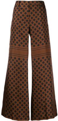 Alberto Biani Polka-Dot Print Trousers