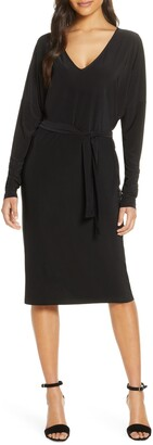 Ilse Jacobsen Belted Long Sleeve Dress