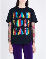 RADIOHEAD Ladies Rainbow Exclusive Foil Vintage Cotton-Blend T-Shirt