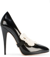 Gucci removable bow pumps - women - Leather - 35