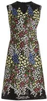 Giambattista Valli Floral-Embellished Cashmere & Silk Sheath