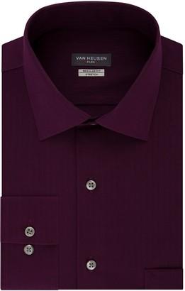 Van Heusen Men's Regular-Fit Textured Solid Dress Shirt