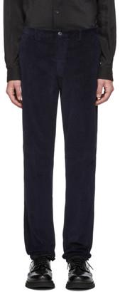 Ermenegildo Zegna Navy Corduroy Long Sport Trousers