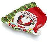 Martha Stewart Christmas Collection Santa Cookie Plate